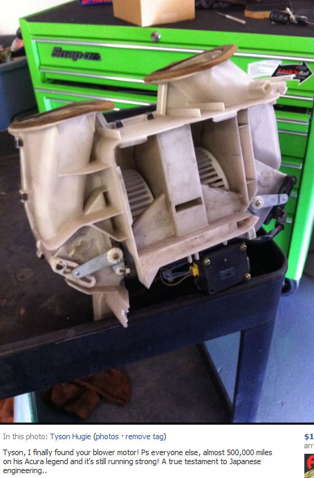 Scorching Hot Drivetofive - Acura legend blower motor