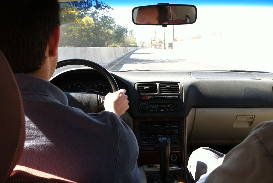 Brock Driving on Acura Legend Water Pump