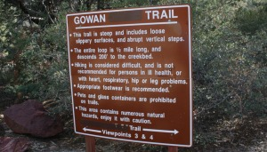 Tonto_Gowan_Trail_Sign