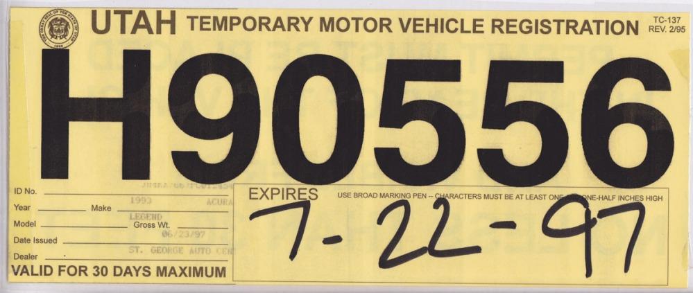 Friday Flashback:  Mom's 1993 Acura Legend L Sedan (5/6)