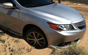 acura_ilx_stuck_in_sand
