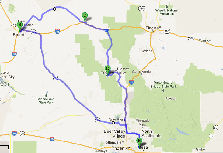 Acura ILX Route 66 Tour Kingman to Seligman Arizona – Travel Route 66 Map
