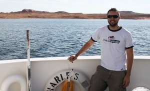 tyson_on_halls_crossing_ferry_lake_powell