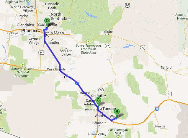 Vail Arizona Map.Ilx Drive Colossal Cave In Vail Arizona Drivetofive