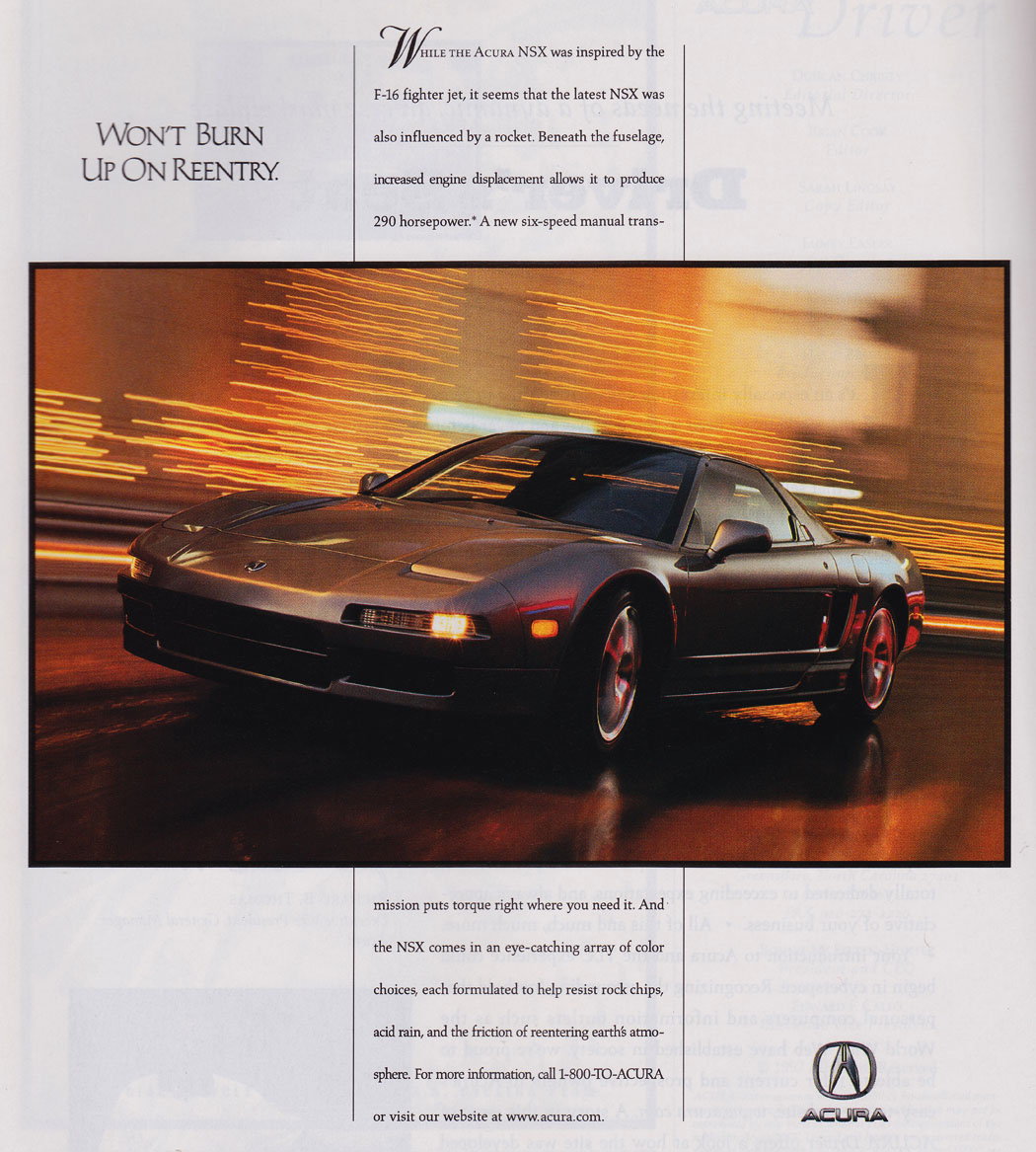 Throwback Thursday: Scans From 'Vintage' Acura Driver