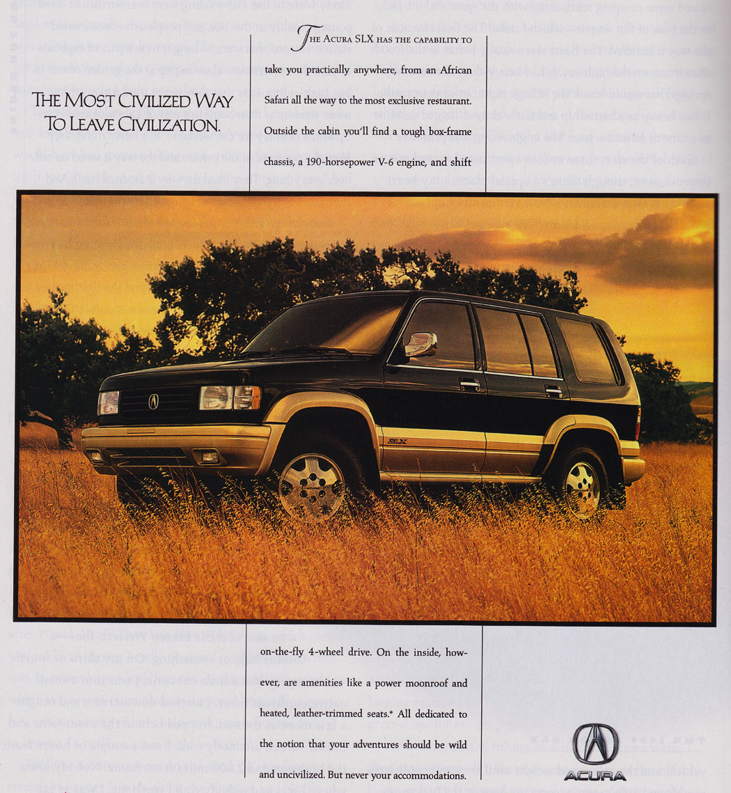Forgotten Acura SUV: The SLX