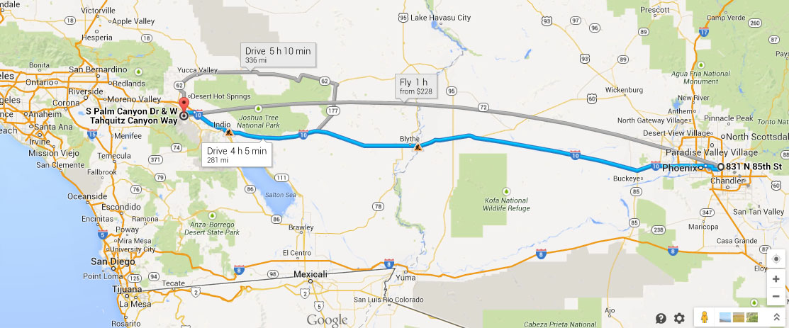 Map Of California Showing Palm Springs.Ilx Visit To Palm Springs California Scott Sandy S Car