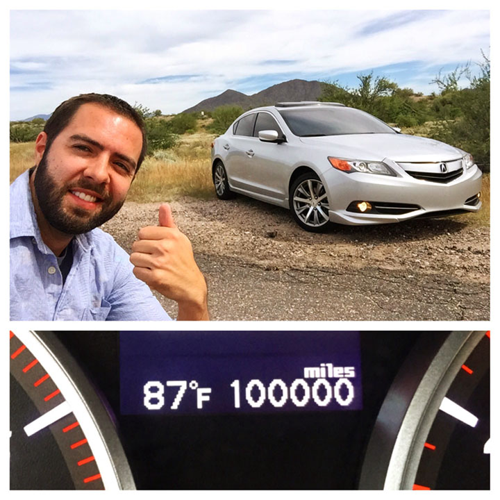 2013 Acura ILX 2.4: 100,000 Miles Achieved