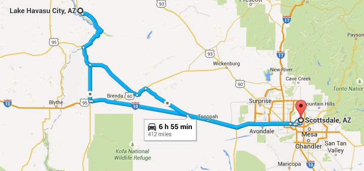 Map Of Arizona Driving.Road Trip To Lake Havasu City Arizona Driving The London Bridge