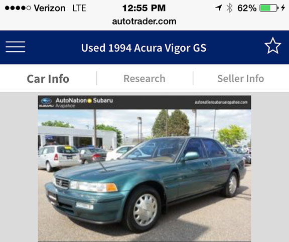 new addition 1994 acura vigor gs 5 speed drivetofive rh drivetofive com