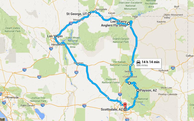 Similiar Map Of Arizona And Utah National Parks Keywords